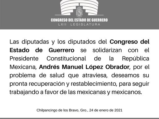 Congreso del Estado de Guerrero se solidarizan con el Presidente Andrés Manuel López Obrador