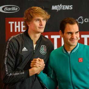Roger Federer y Alexander Zverev dieron conferencia de prensa y visitaron la plaza México.