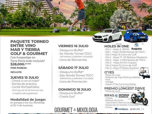 """Déjate sorprender en el festival gastronómico y de golf """"Entre Vino, Mar y Tierra, Golf & Gourmet"""""""