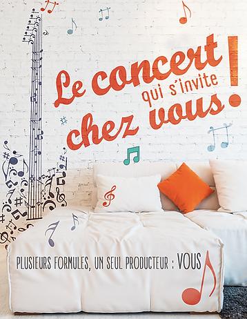Flyer Concert à Domicile