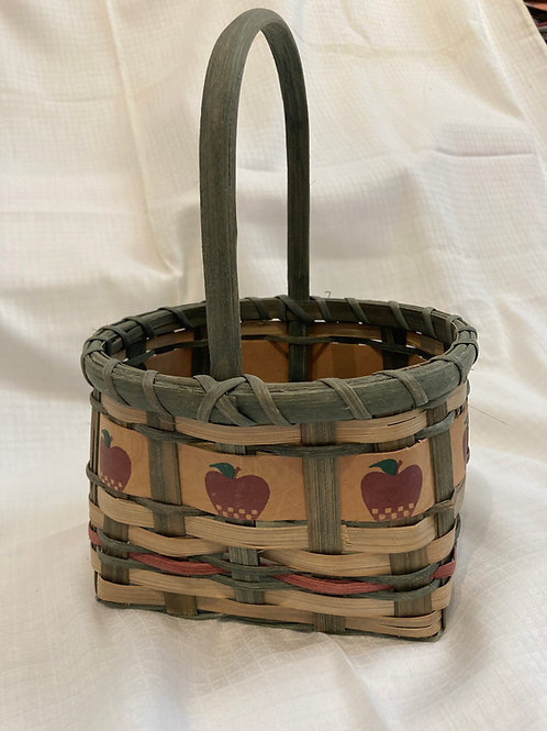 Woven Basket with Apple Design