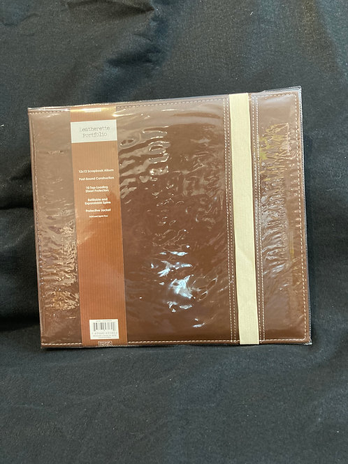12x12 Scrapbook Album - Brown Leatherette