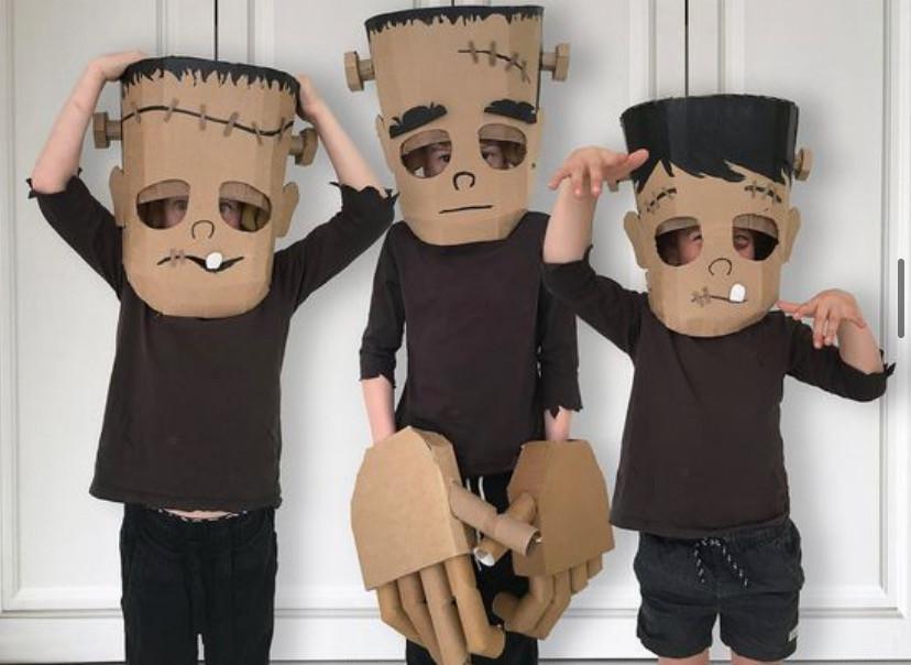Large Cardboard Frankenstein Heads