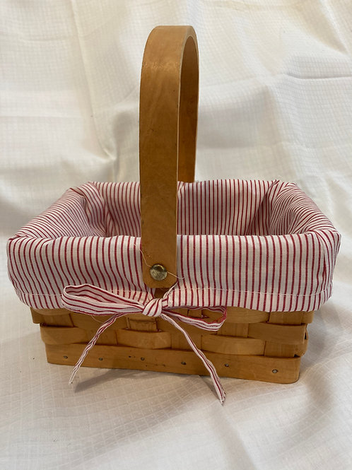 Woven Basket with Fabric Liner