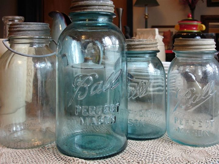 Assorted Glass Jars