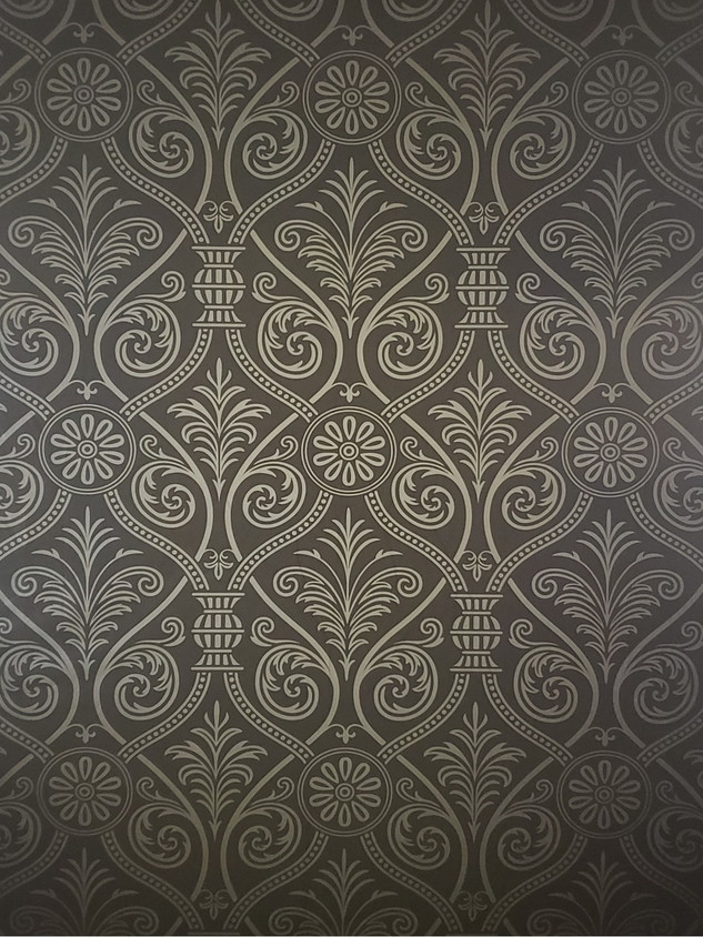 Black and Gray Damask Backdrop