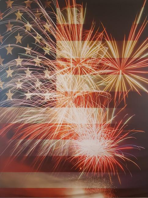 Star Spangled Fireworks Backdrop
