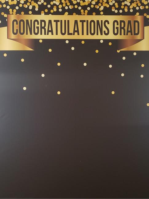 Congrats Grad Backdrop