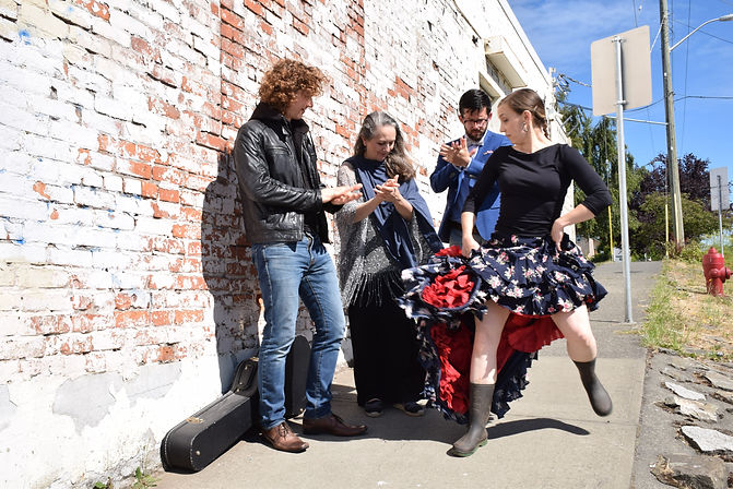 Palabra Flamenco is a literary flamenco collaboration featuring dancer Denise Yeo, poet Garth Martens, singer Veronica Maguire, and guitarist Gareth Owen.