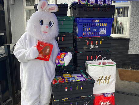 The Easter Bunny makes a visit to Doorways