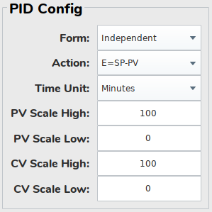 pidbot Tuning Dashboard - PID Config Panel