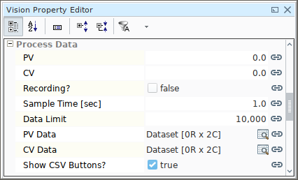 pidbot Tuning Dashboard Properties - Process Data