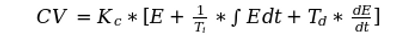 PID Equation - Dependent Form