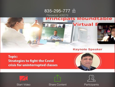 Virtual Principal Roundtable brings fraternity of education together to deal with covid cris