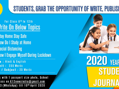 K12 News Invites Articles to engage Students during COVID-19 Lockdown – Student Journalist Hunt 2020