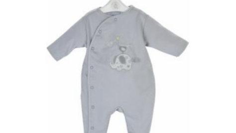 Elephant & Bird cotton Sleepsuit