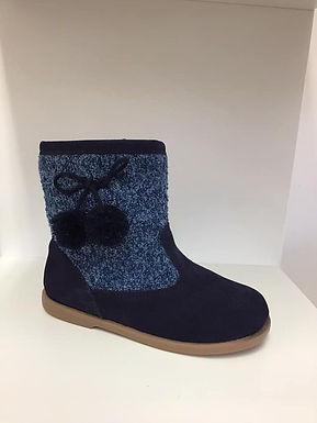 Tweed Pom Pom boot