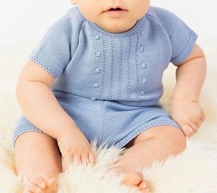 Boy knit top and short set