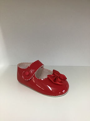 Red pram soft sole shoe