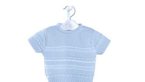 Boy Pointelle knitted set
