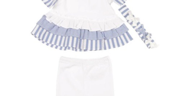 Girls white/blue  set