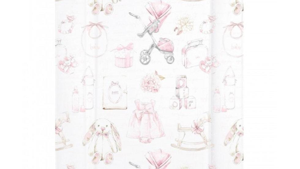 Pink vintage style changing mat