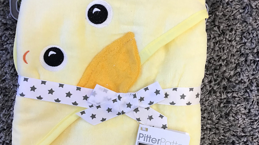 Pitter Patter hooded towel