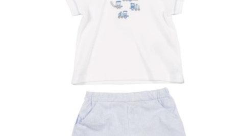 Boys Train T-shirt & shorts set