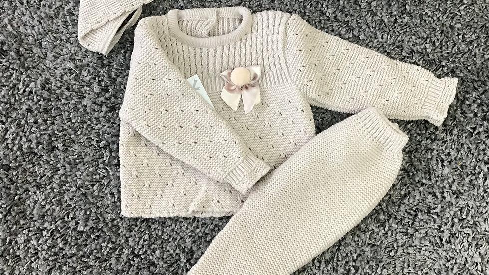 Spanish 3 piece knit set