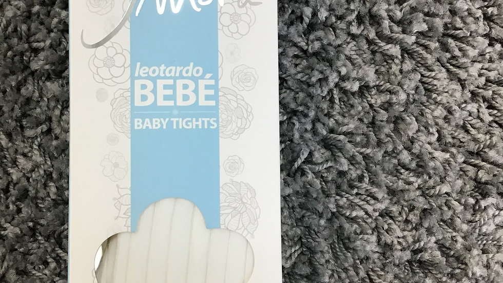 Ivory ribbed anti pressure tights