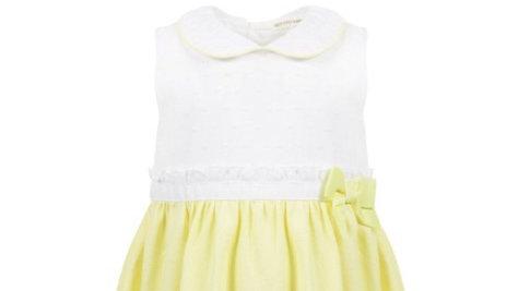 Girls Lemon/white dress