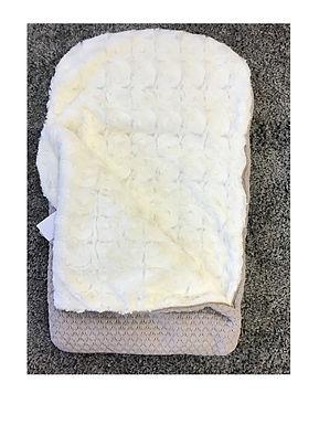 Knitted Pom Pom sleep sack with zip