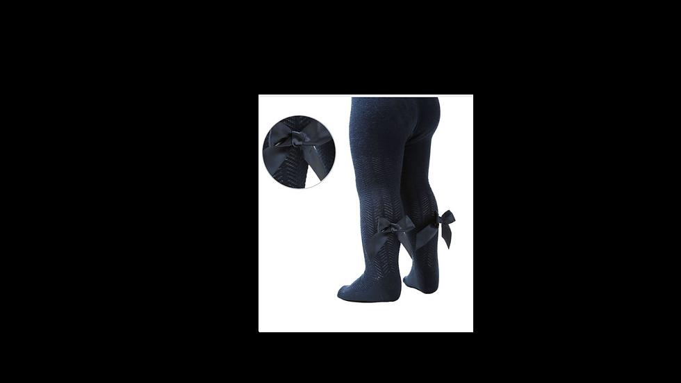 Navy chevron tights