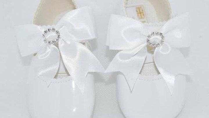 Diamanté soft sole pram shoe