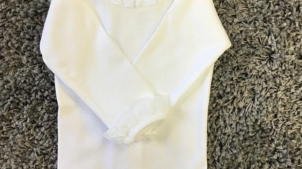 Spanish white frill vest
