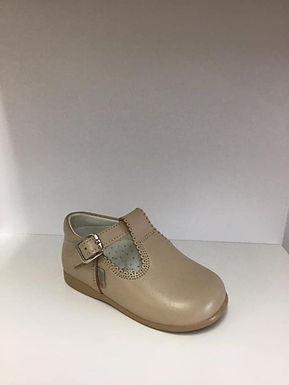 Caramel T-bar shoe