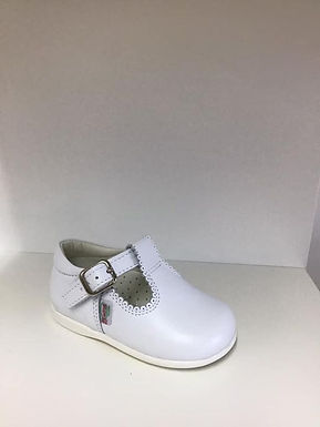 White T-bar shoes
