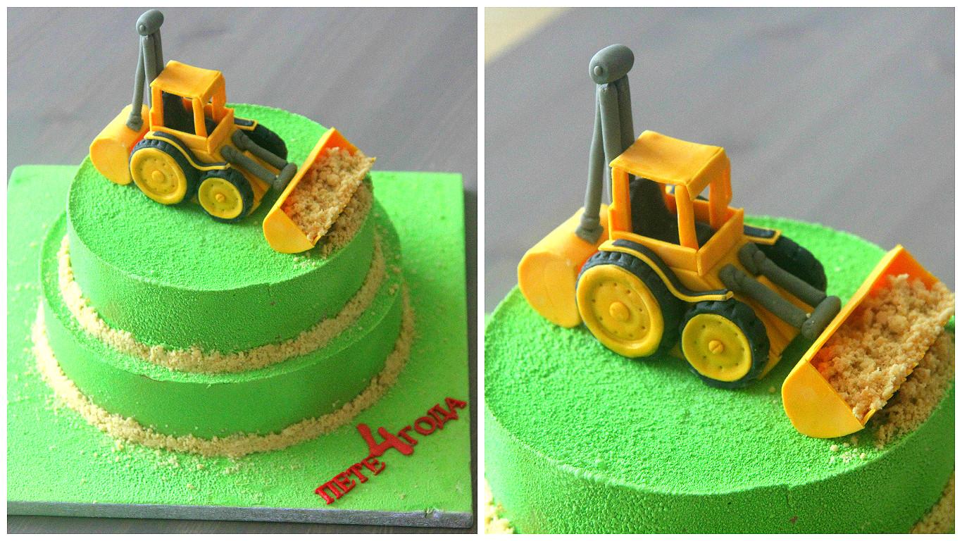 Трактор из мастики с пошаговым фото