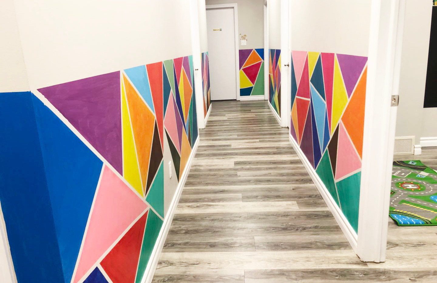 Colorful Hall-Hand Paint by Us