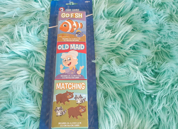 Go Fish / Old Maid / Matching Cards