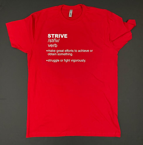 """Strive"" Expressive T-Shirt (RED)"