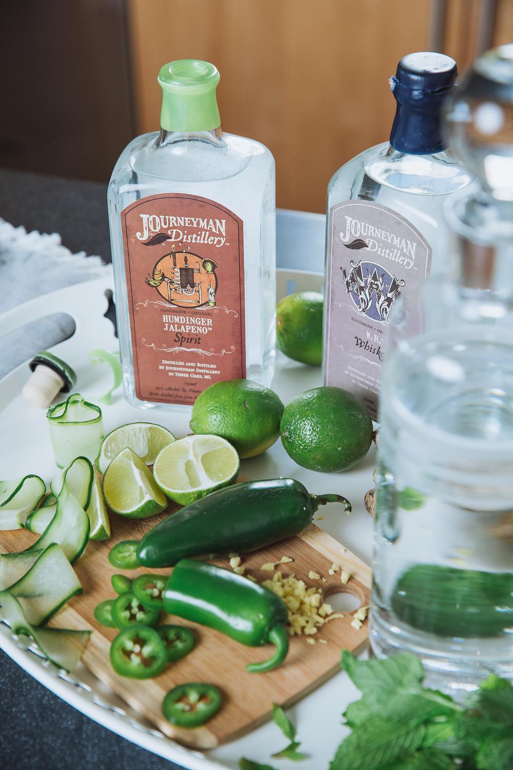 Spicy Keto cocktail recipe with Journeyman Humdinger Jalapeno