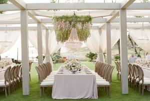 Wedding Reception Dining Canopy at Four Seasons Resorts Lanai