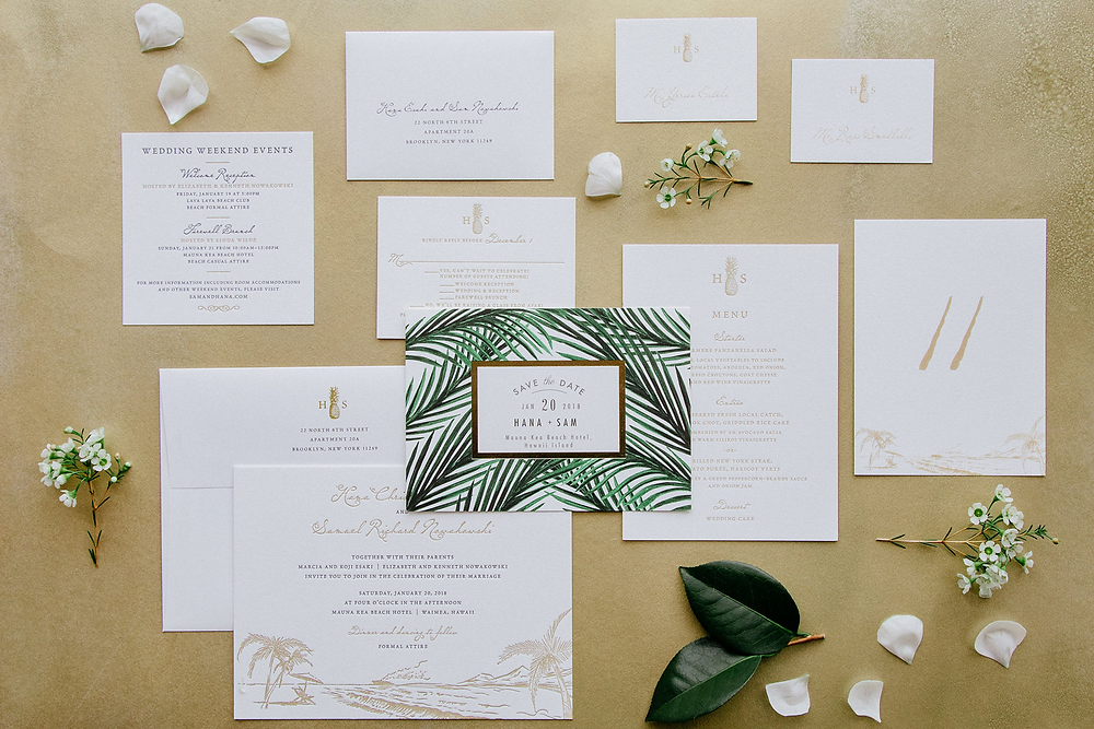 Big island Wedding Custom Invitations | Inspiration Events Hawaii Blog