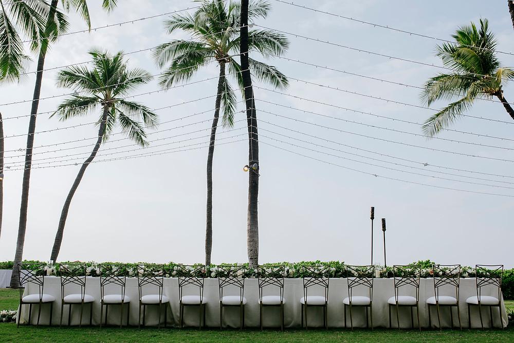Wedding Reception Mauna Kea Hotel Big Island   Inspiration Events Hawaii   Hawaii Event Rentals