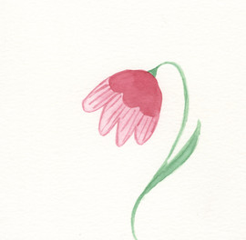 Watercolor hanging flower