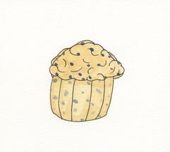Watercolor muffin