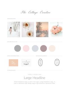 Cottage Creative Branding Board