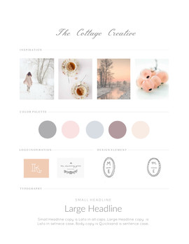 Cottage Creative Branding Board