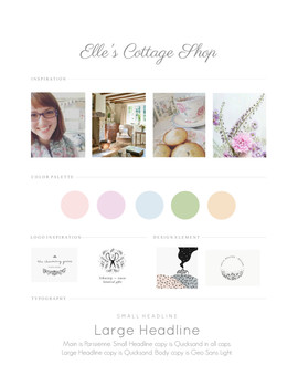 Elle's Cottage Branding Board